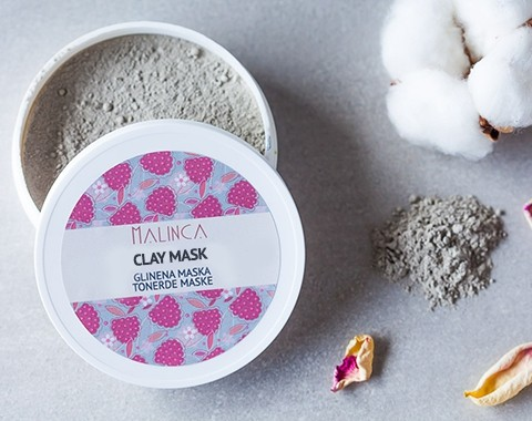 Clay Face Mask - for all skin types 80g