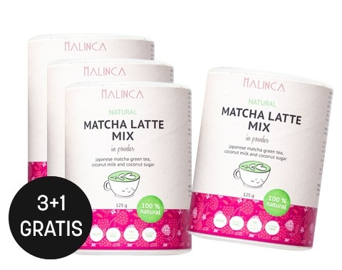 Matcha latte mix 125g 3+1 gratis