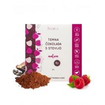 Temna čokolada s stevijo - malina 80g