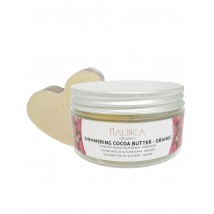 Organic Cocoa Butter with Glitter - Orange 60g