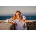 Pink latte mix na morju